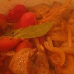 ブタ肉のトマト煮